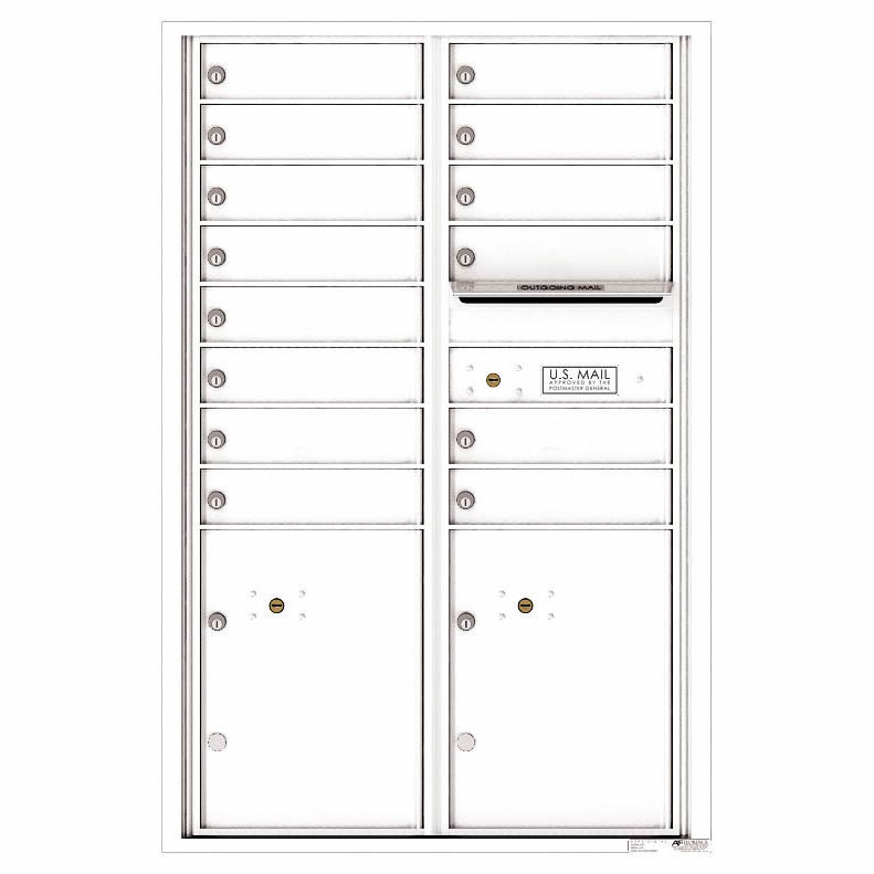 Florence Versatile Front Loading 4C Commercial Mailbox 4C13D-14 White