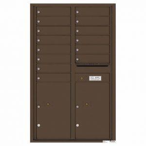Florence Versatile Front Loading 4C Commercial Mailbox 4C14D-14 Antique Bronze