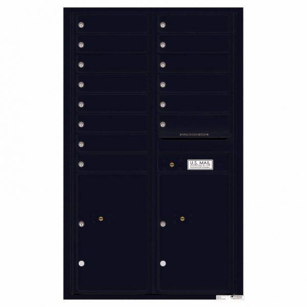 Florence Versatile Front Loading 4C Commercial Mailbox 4C14D-14 Black