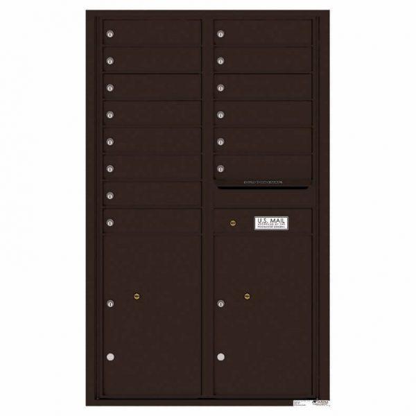 Florence Versatile Front Loading 4C Commercial Mailbox 4C14D-14 Dark Bronze