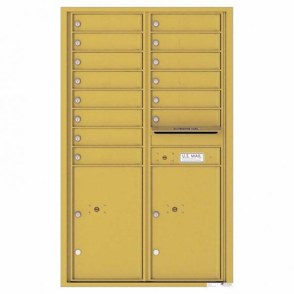 Florence Versatile Front Loading 4C Commercial Mailbox 4C14D-14 Gold Speck