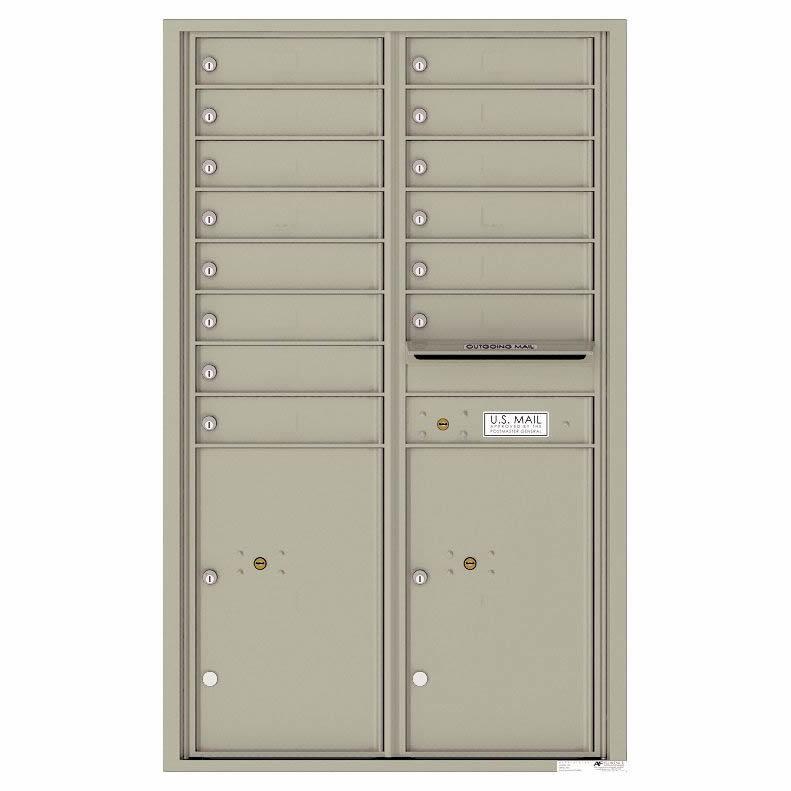 Florence Versatile Front Loading 4C Commercial Mailbox 4C14D-14 Postal Grey