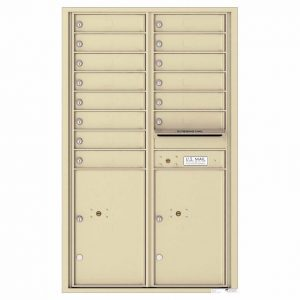 Florence Versatile Front Loading 4C Commercial Mailbox 4C14D-14 Sandtone