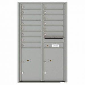 Florence Versatile Front Loading 4C Commercial Mailbox 4C14D-14 Silver Speck