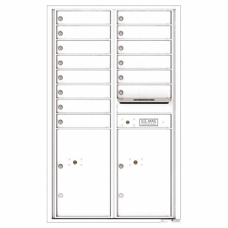 Florence Versatile Front Loading 4C Commercial Mailbox 4C14D-14 White