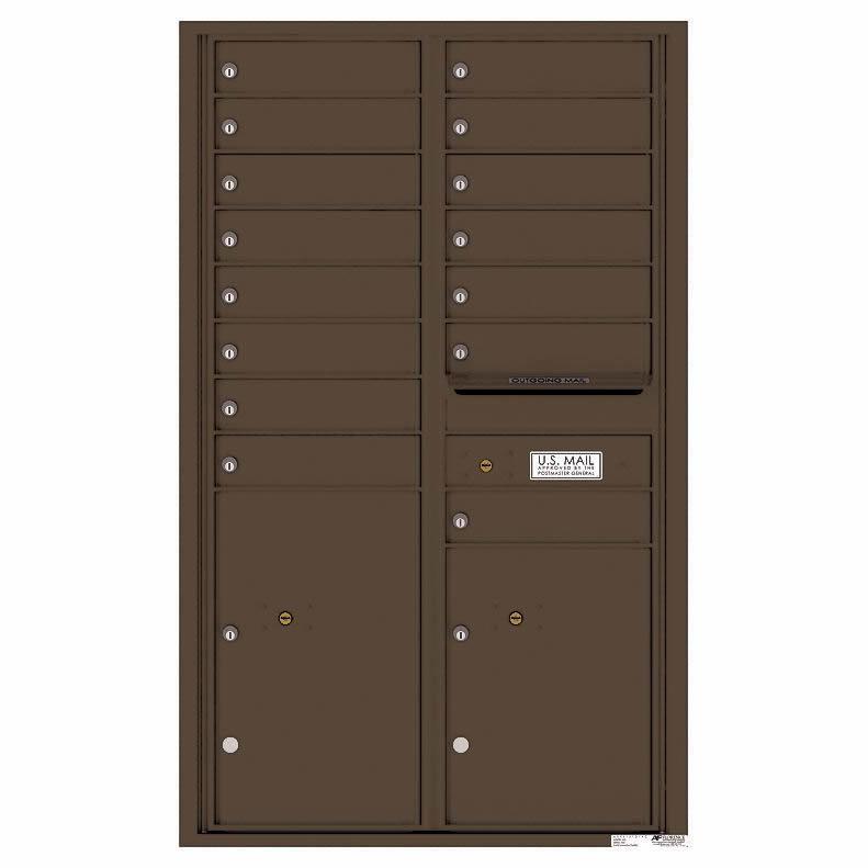 Florence Versatile Front Loading 4C Commercial Mailbox 4C14D-15 Antique Bronze
