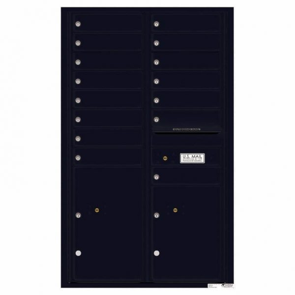 Florence Versatile Front Loading 4C Commercial Mailbox 4C14D-15 Black