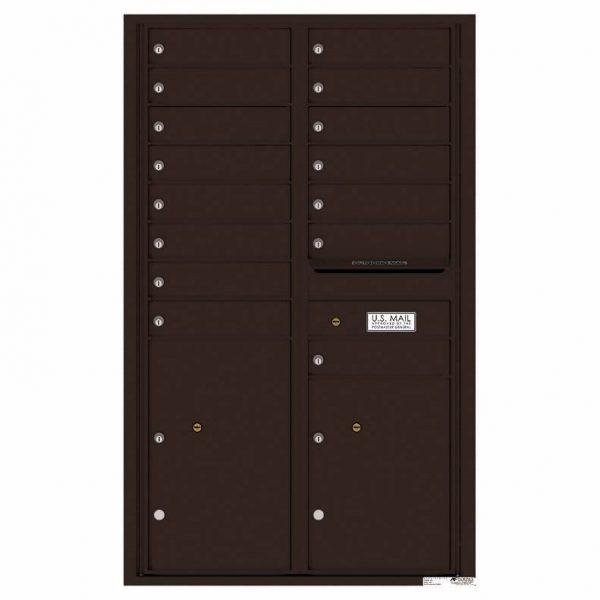 Florence Versatile Front Loading 4C Commercial Mailbox 4C14D-15 Dark Bornze