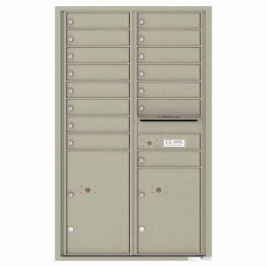 Florence Versatile Front Loading 4C Commercial Mailbox 4C14D-15 Postal Grey
