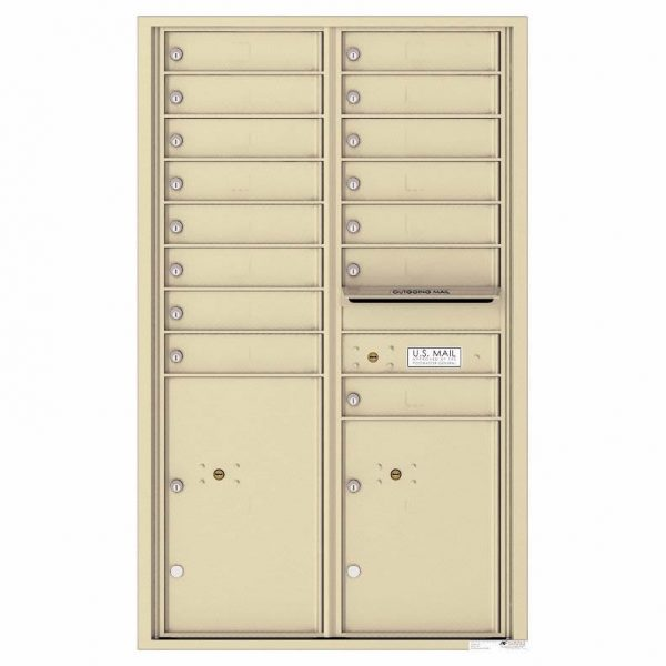 Florence Versatile Front Loading 4C Commercial Mailbox 4C14D-15 Sandstone
