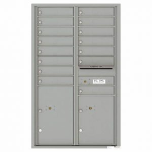 Florence Versatile Front Loading 4C Commercial Mailbox 4C14D-15 Silver Speck