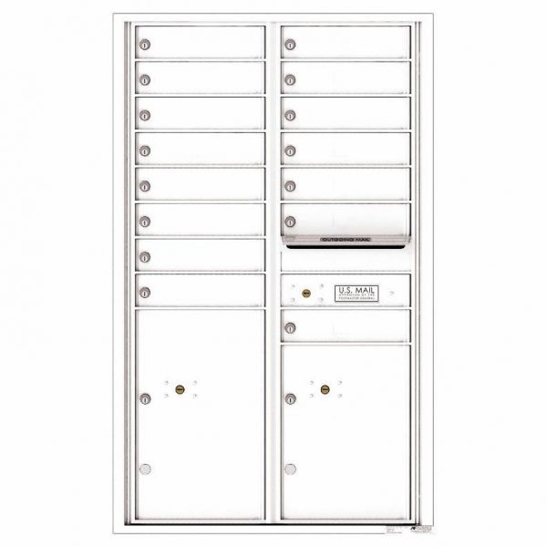 Florence Versatile Front Loading 4C Commercial Mailbox 4C14D-15 White