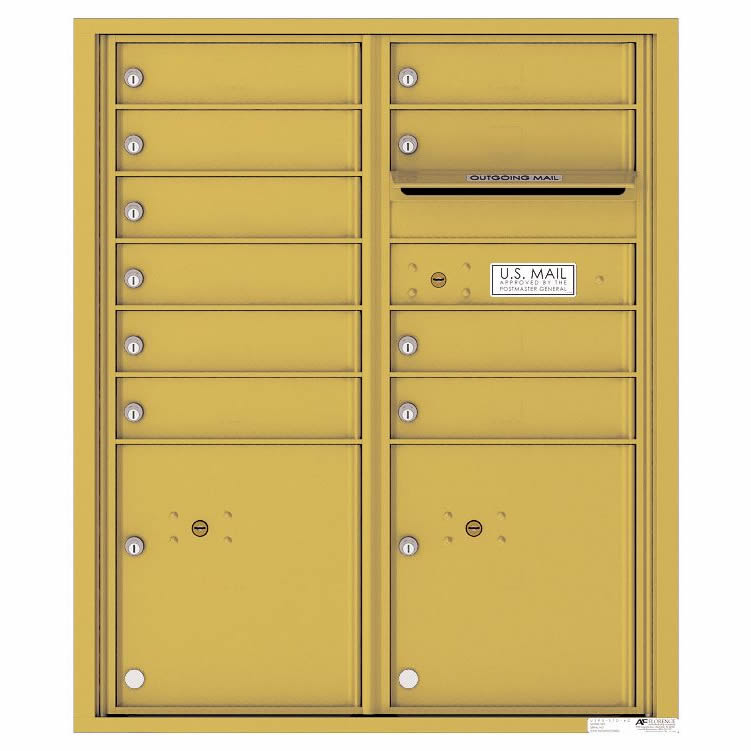 Florence Versatile Front Loading 4C Commercial Mailbox 4CADD-10 Gold Speck