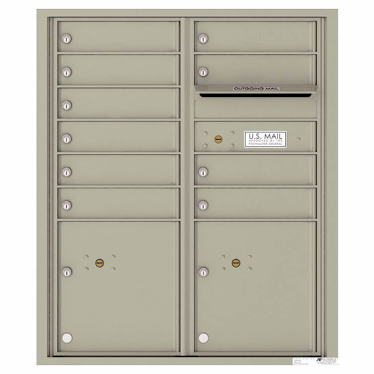 Florence Versatile Front Loading 4C Commercial Mailbox 4CADD-10 Postal Grey