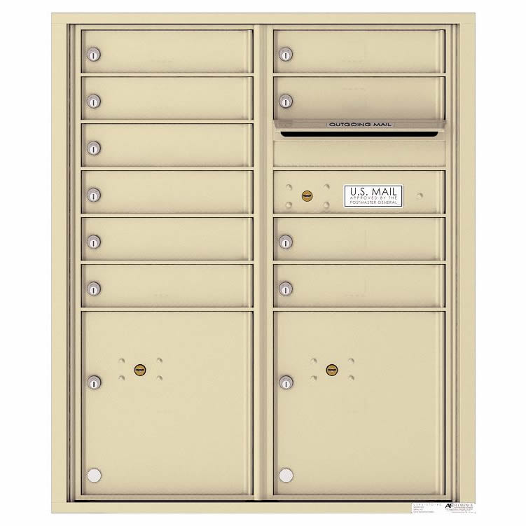 Florence Versatile Front Loading 4C Commercial Mailbox 4CADD-10 Sandstone
