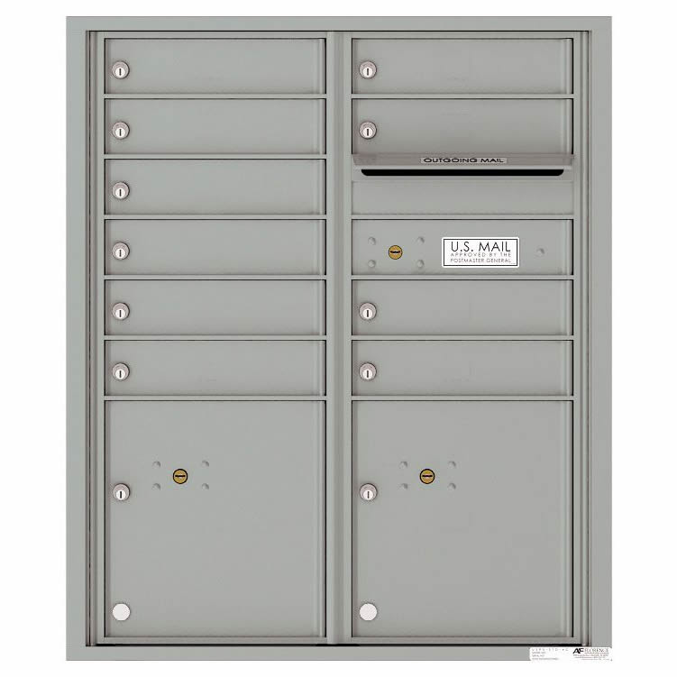 Florence Versatile Front Loading 4C Commercial Mailbox 4CADD-10 Silver Speck