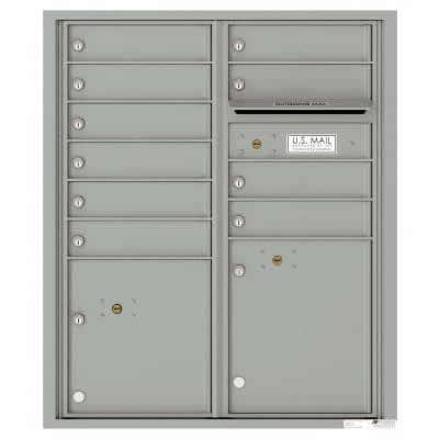 Florence Versatile Front Loading 4C Commercial Mailbox with 10 tenant Doors and 2 Parcel Lockers 4CADD-10