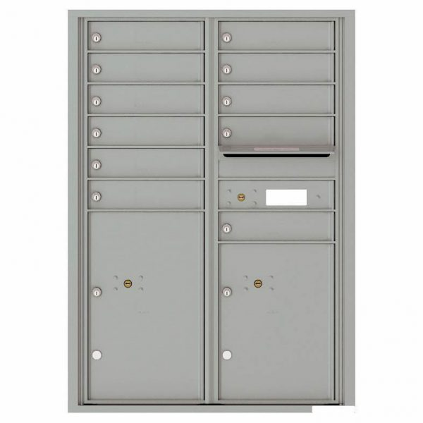 Florence Versatile Front Loading 4C Commercial Mailbox with 11 Tenant Compartments and 2 Parcel Lockers 4C12D-11
