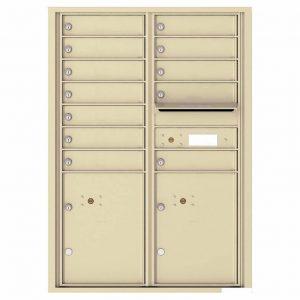 Florence Versatile Front Loading 4C Commercial Mailbox with 12 tenants 2 parcels 4C12D-12 Sandstone