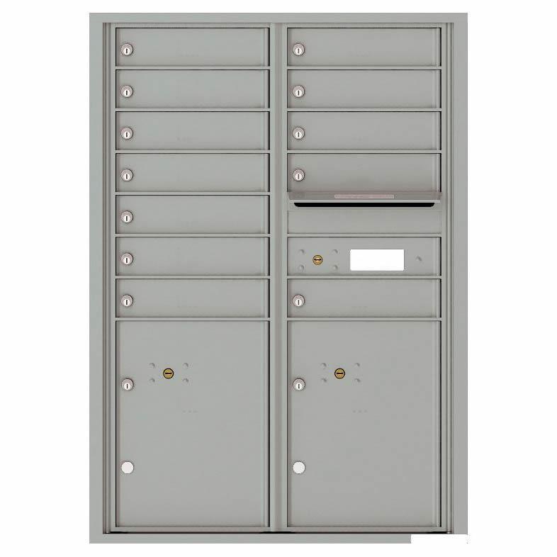 Florence Versatile Front Loading 4C Commercial Mailbox with 12 tenants 2 parcels 4C12D-12