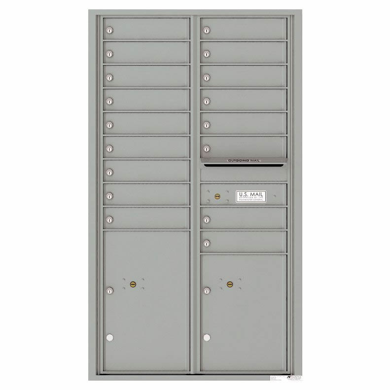Florence Versatile Front Loading 4C Commercial Mailbox with 17 Tenant Compartments and 2 Parcel Lockers