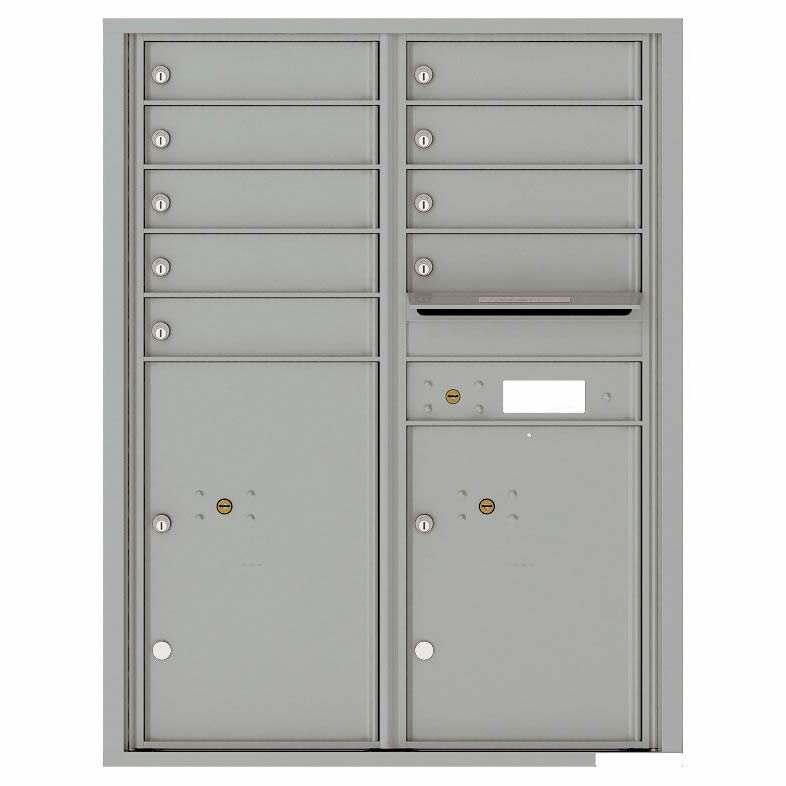 Florence Versatile Front Loading 4C Commercial Mailbox with 9 Tenant Compartments and 2 Parcel Lockers 4C11D-09