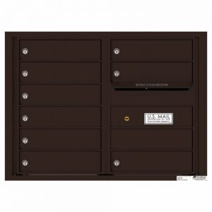 Florence Versatile Front Loading 4C Commercial Mailbox with 9 tenant Compartments 4C06D-09 Dark Bronze
