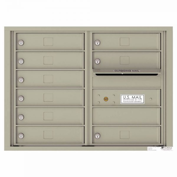 Florence Versatile Front Loading 4C Commercial Mailbox with 9 tenant Compartments 4C06D-09 Postal Grey