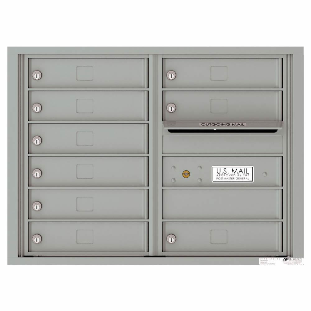 Florence Versatile Front Loading 4C Commercial Mailbox with 9 tenant Compartments 4C06D-09
