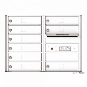 Florence Versatile Front Loading 4C Commercial Mailbox with 9 tenant Compartments 4C06D-09 White