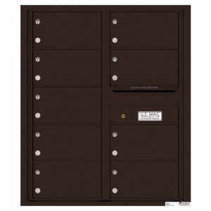 Florence Versatile Front Loading 4C Commercial Mailbox with 9 tenant Compartments 4C10D-09 Dark Bronze