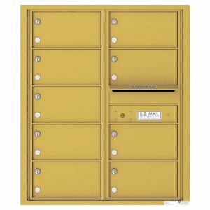 Florence Versatile Front Loading 4C Commercial Mailbox with 9 tenant Compartments 4C10D-09 Gold Speck