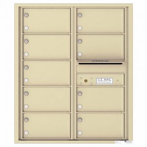 Florence Versatile Front Loading 4C Commercial Mailbox with 9 tenant Compartments 4C10D-09 Sandstone