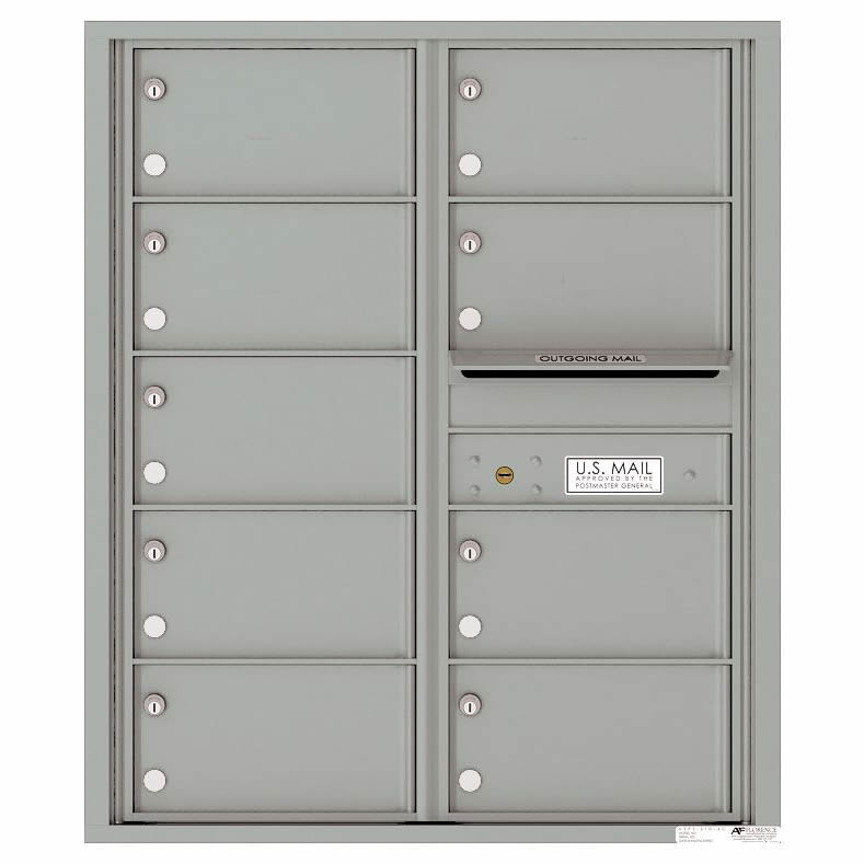 Florence Versatile Front Loading 4C Commercial Mailbox with 9 tenant Compartments 4C10D-09