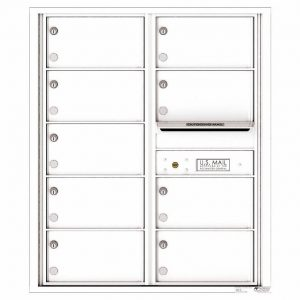 Florence Versatile Front Loading 4C Commercial Mailbox with 9 tenant Compartments 4C10D-09 White