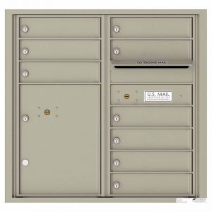 Florence Versatile Front Loading 4C Commercial Mailbox with 9 tenant Doors and 1 Parcel Locker 4C08D-09 Postal Grey