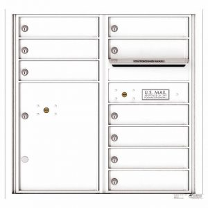 Florence Versatile Front Loading 4C Commercial Mailbox with 9 tenant Doors and 1 Parcel Locker 4C08D-09 White
