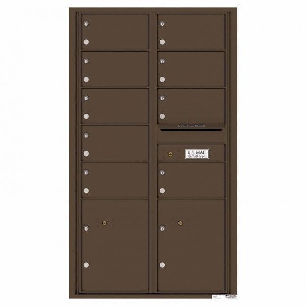 Florence Versatile Front Loading 4C Commercial Mailbox with 9 tenant Doors and 2 Parcel Locker 4C15D-09 Antique Bronze