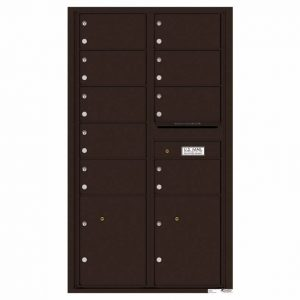 Florence Versatile Front Loading 4C Commercial Mailbox with 9 tenant Doors and 2 Parcel Locker 4C15D-09 Dark Bronze