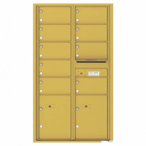 Florence Versatile Front Loading 4C Commercial Mailbox with 9 tenant Doors and 2 Parcel Locker 4C15D-09 Gold Speck