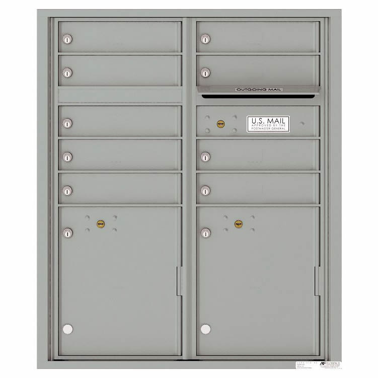 Florence Versatile Front Loading 4C Commercial Mailbox with 9 tenant Doors and 2 Parcel Lockers 4CADD-9