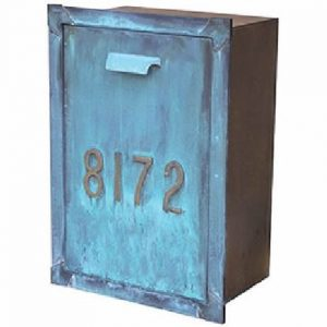 Streetscape Courtyard Column Mailbox Patina Finish SI-176