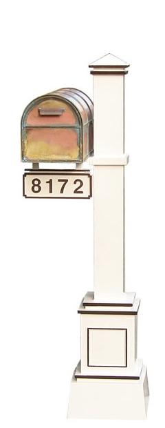 Streetscape Westchester Mailbox Craftsman Post