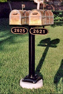2 Westchester Mailboxes with Double Stanard Post