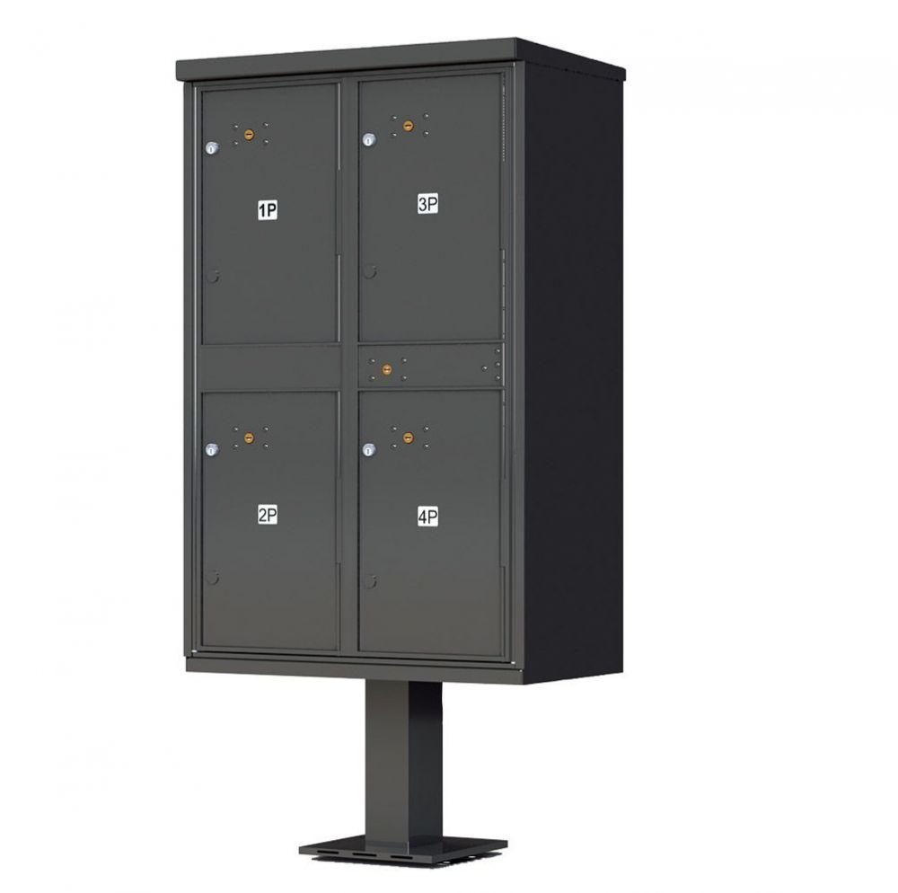 4 Door Parcel Locker CBU 1590-T2SD Bronze