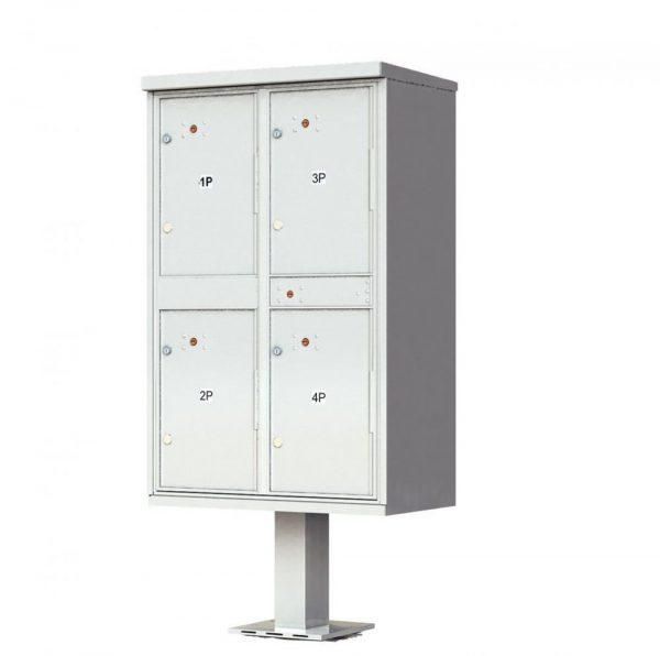 4 Door Parcel Locker CBU 1590-T2SD Gray