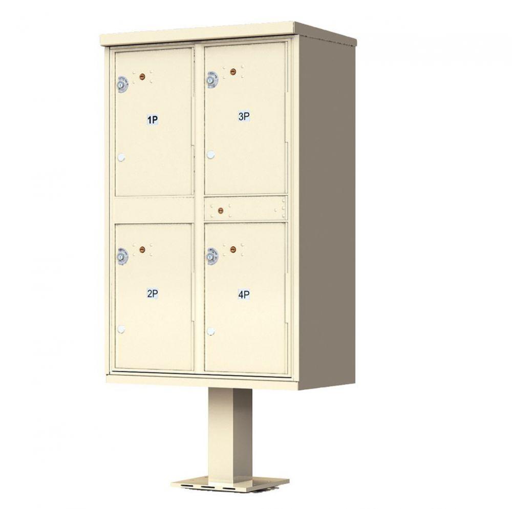 4 Door Parcel Locker CBU 1590-T2SD Sandstone
