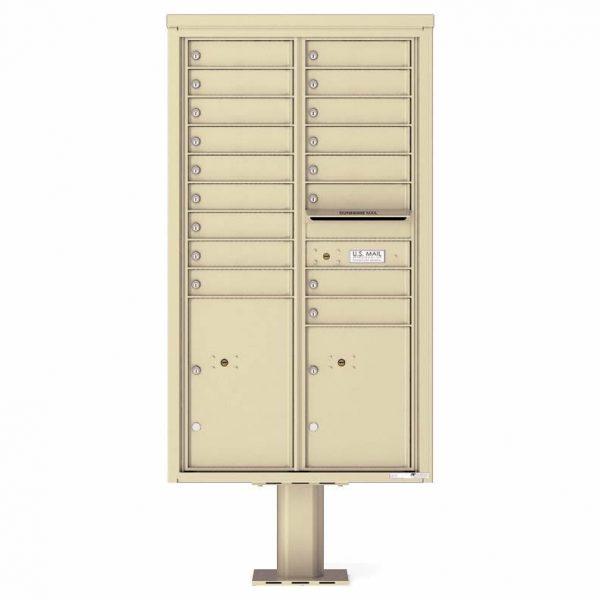 Florence Versatile Front Loading Pedestal Mailbox 4C15D-17-P Sandstone