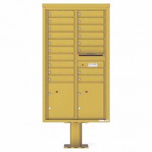 Florence Versatile Front Loading Pedestal Mailbox 4C15D-18-P Gold Speck
