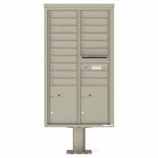 Florence Versatile Front Loading Pedestal Mailbox 4C15D-18-P Postal Grey